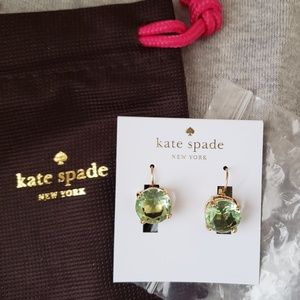 Kate Spade Light Green Gumball Studs NWT